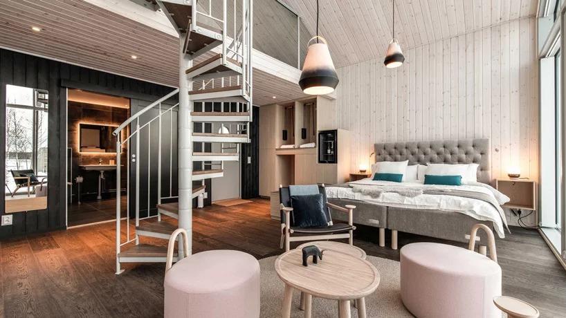 La suite di oltre 60 m2 / Arctic Bath/Anders Blomqvist/Pasquale Baseotto/Johan Jansson