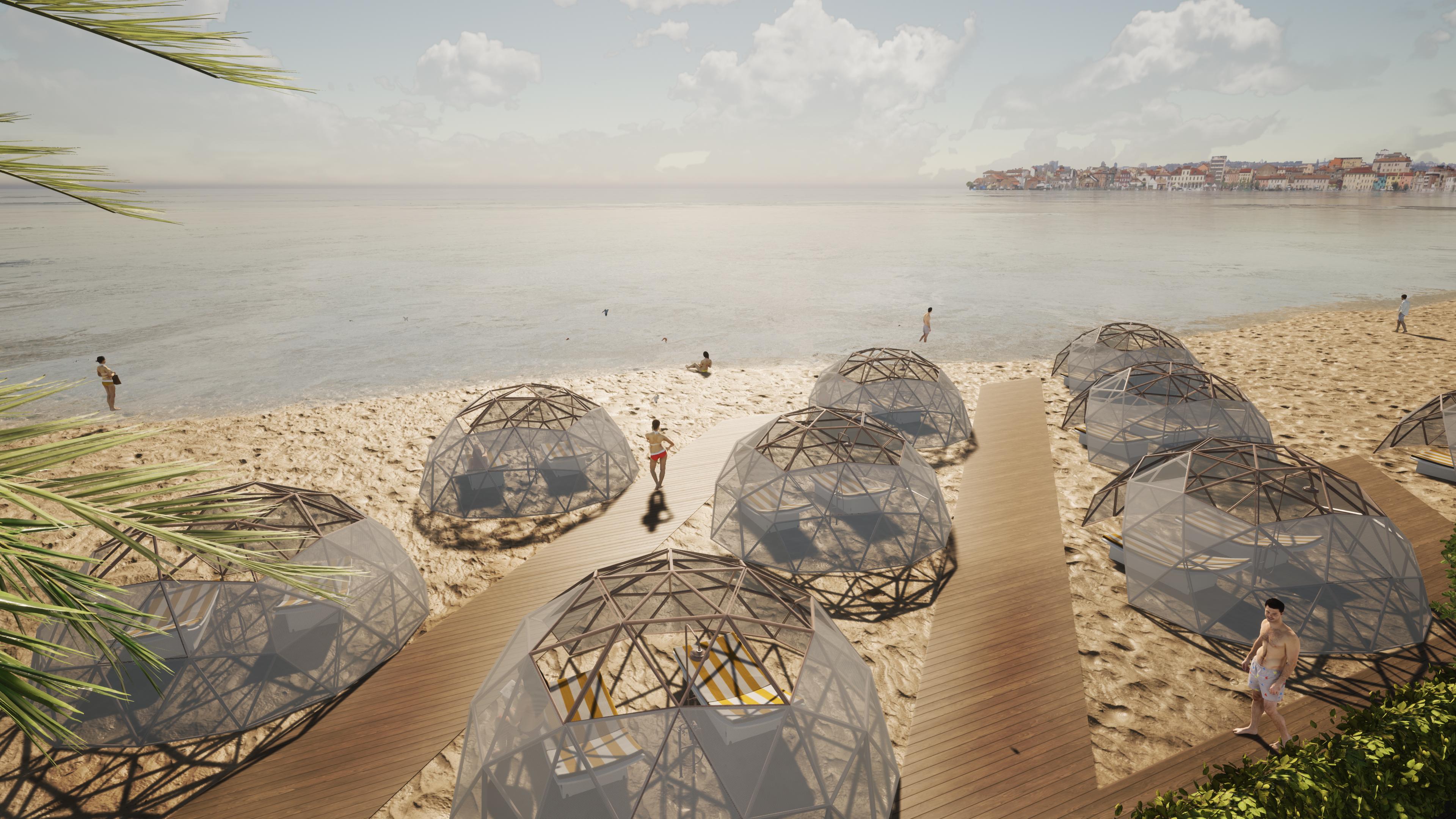 Un innovativo progetto per mantenere le distanze anche al mare / OBICUA Architettura