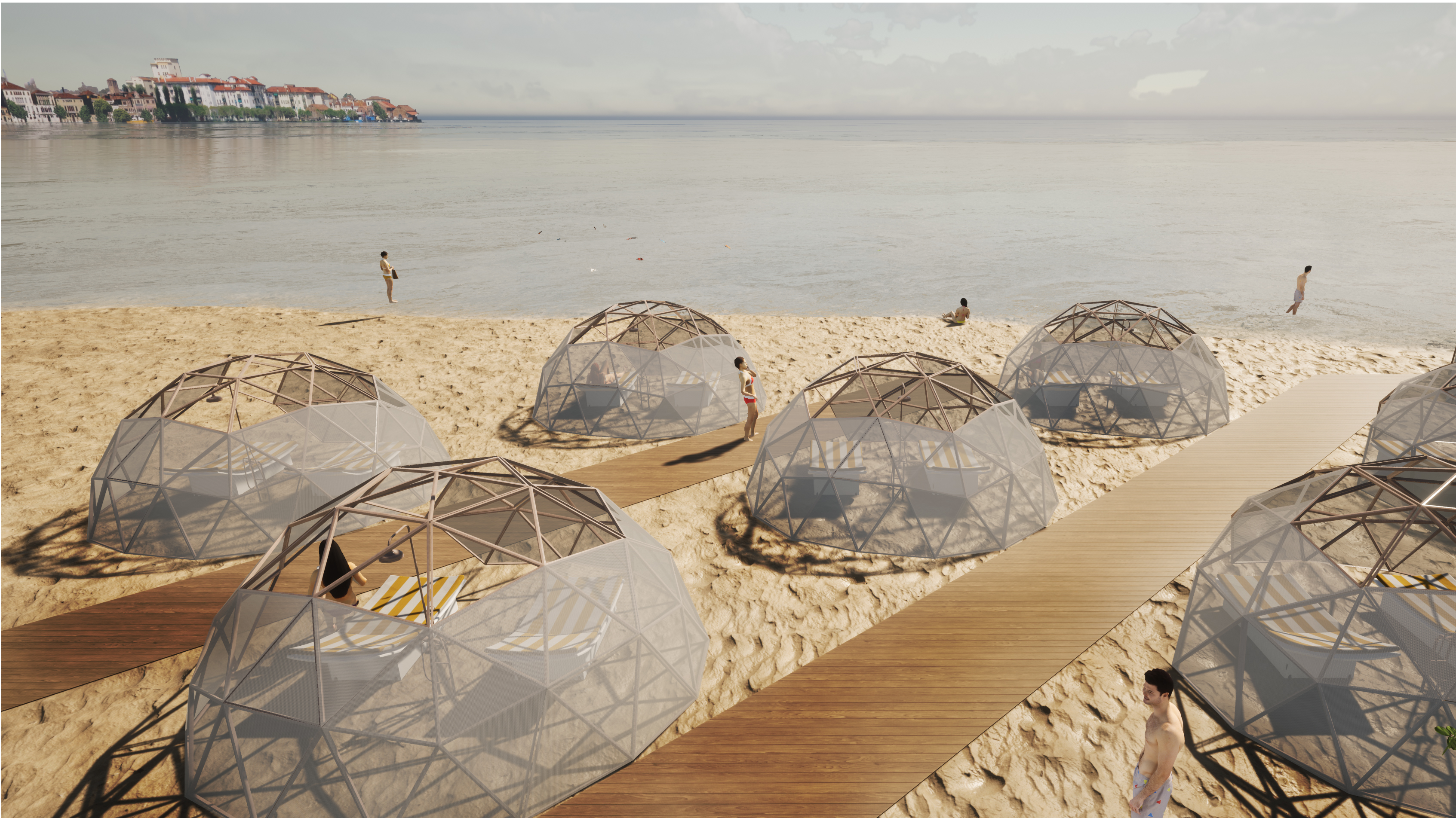 Cupole di bamboo per la spiaggia / OBICUA Architettura