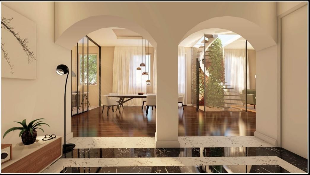 Carria ha pensato all'idea di spazio a giorno come uno spazio aperto e flessibile  / Gopillar