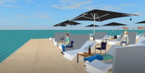 Rendering distanziatori ecosostenibili per spiaggia dell'Enea / Enea Channel