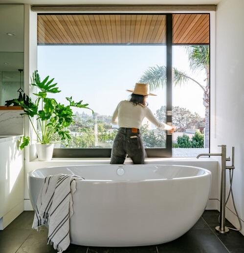 Un bagno con vista