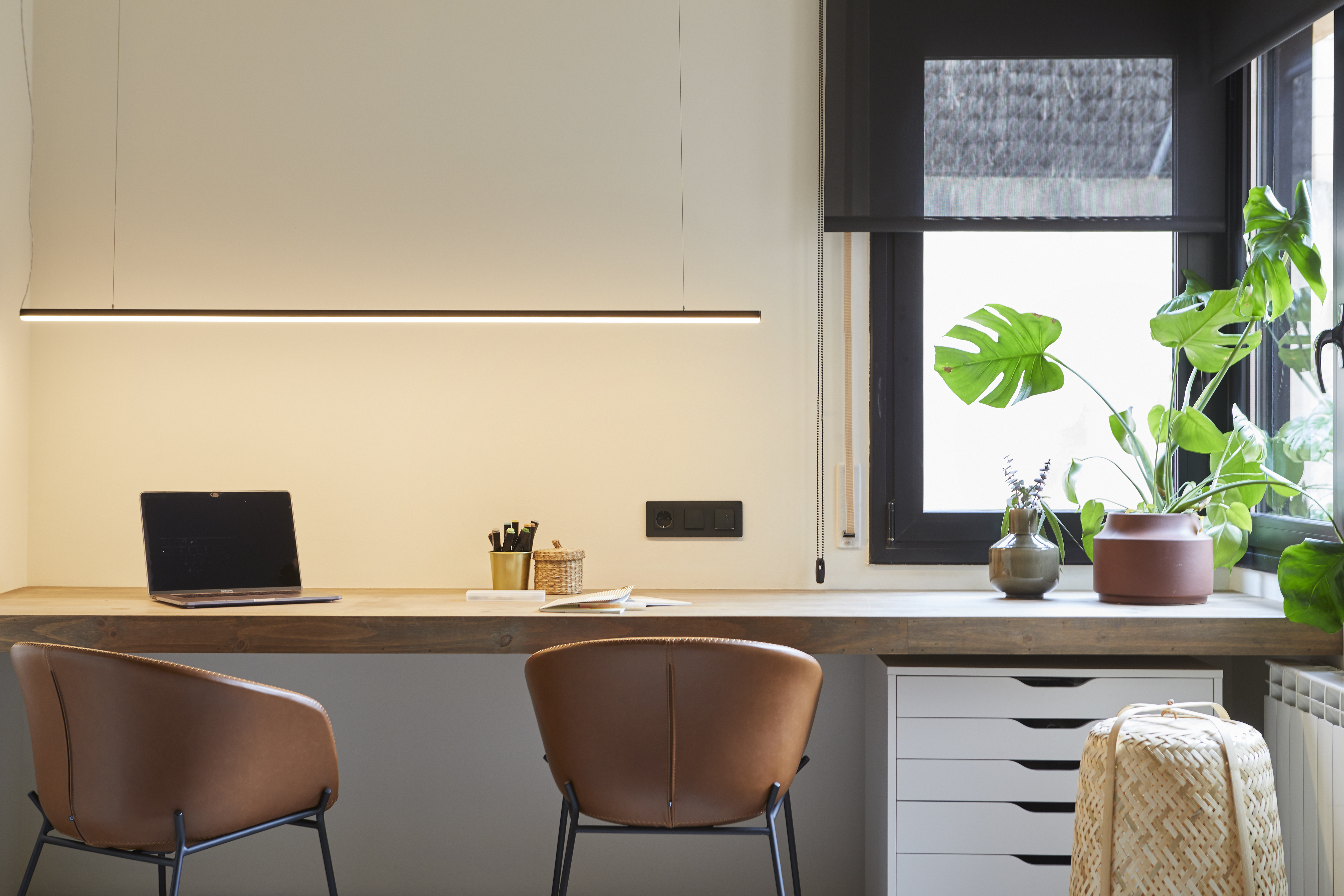 Con luce naturale e spazio per lavorare