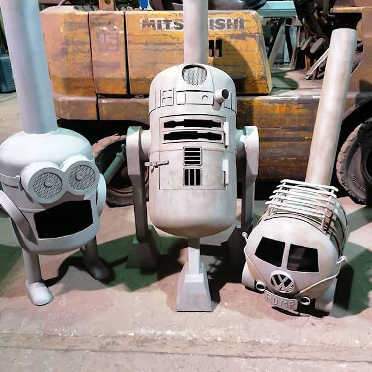 Miniversione di Minions, R2-D2 e VW