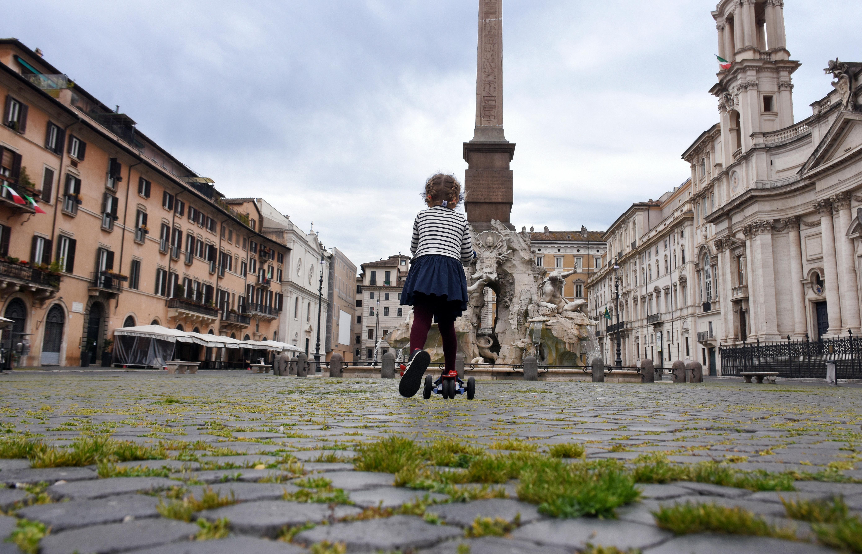 Roma, 18 aprile 2020 / Esma Cakir / Agenzia DHA