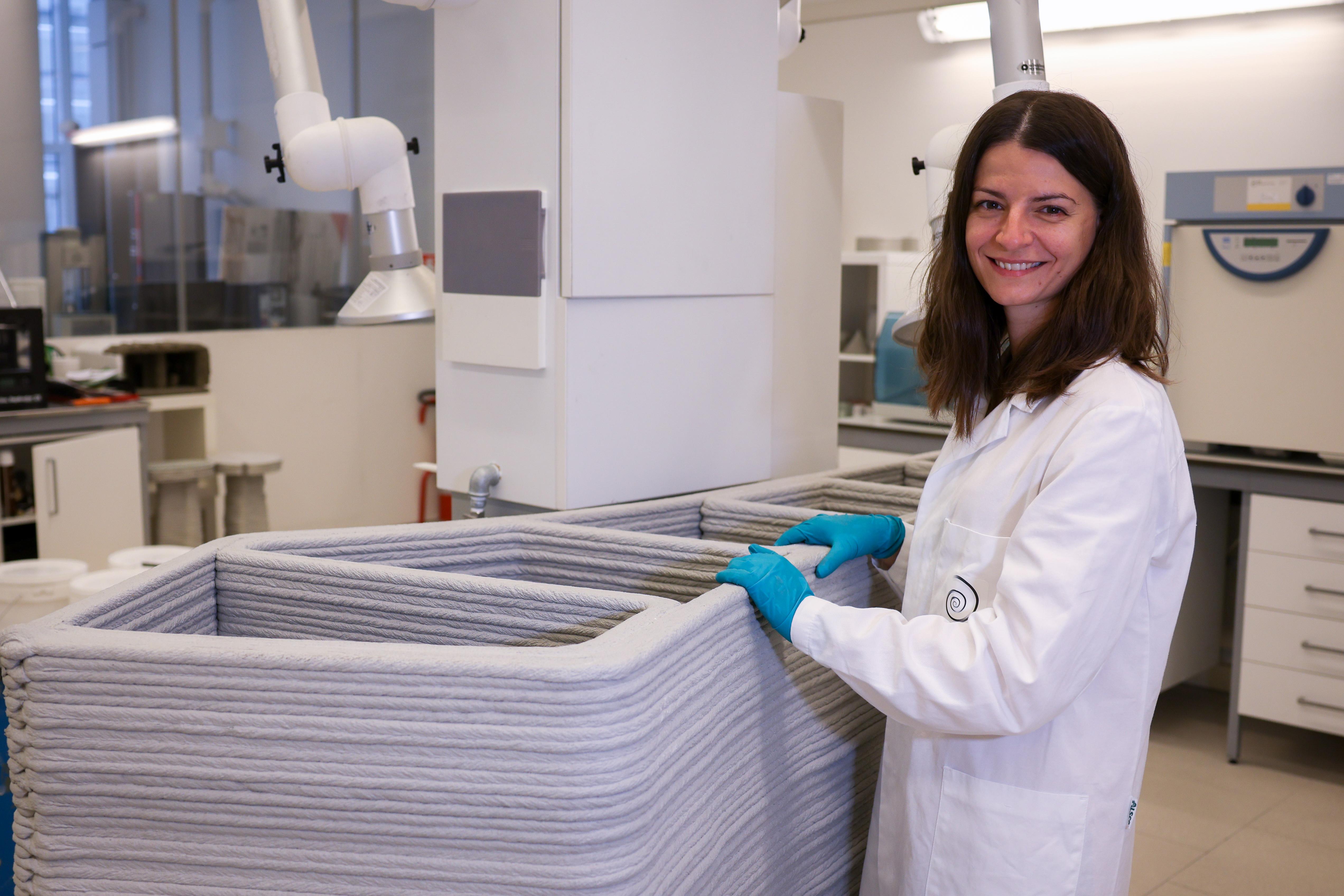 La ricercatrice Chiara Rossino / Italcementi