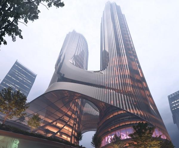 Progetto Torre C Shenzen - ZHA / Brick Visual