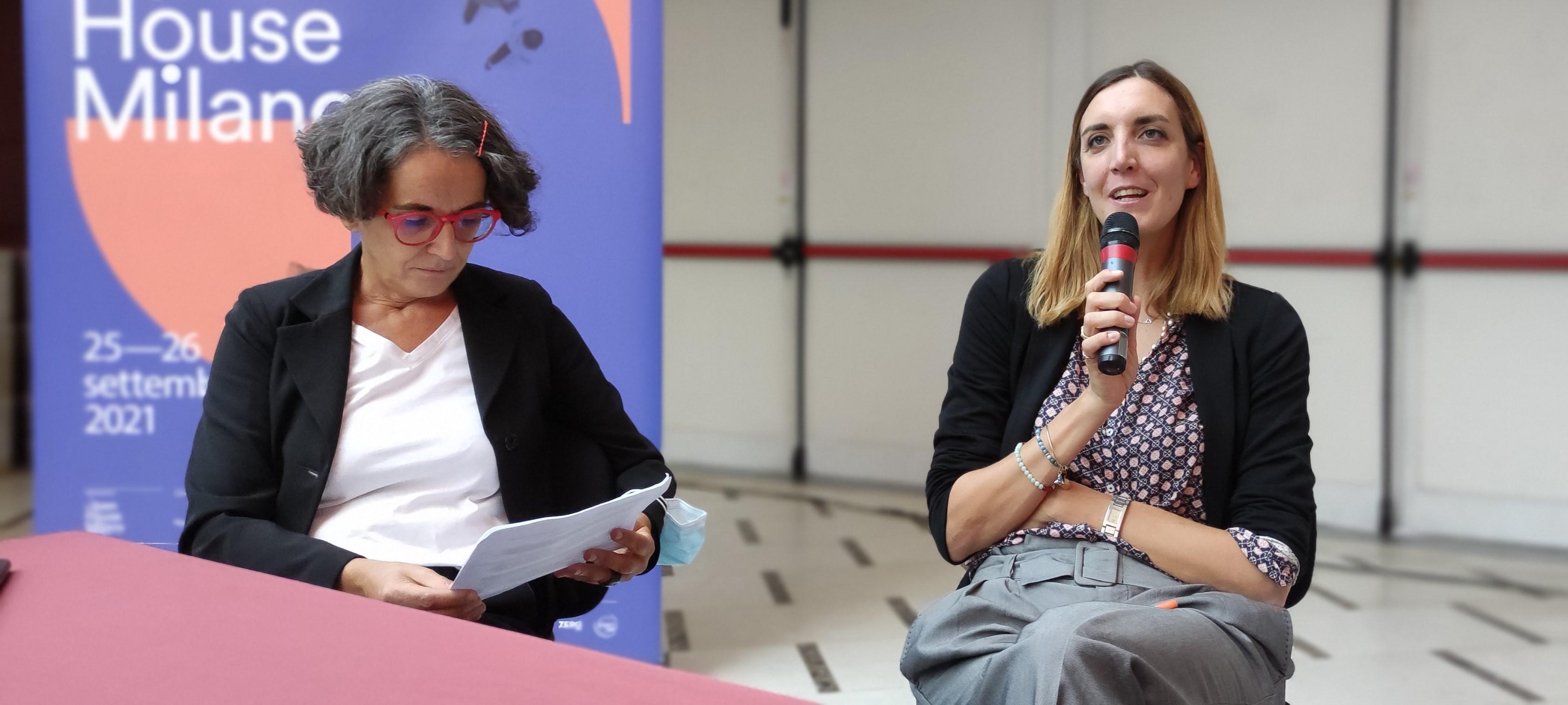 Maya Plata, direttore OHM e Sara Banti, caporedattore ABITARE