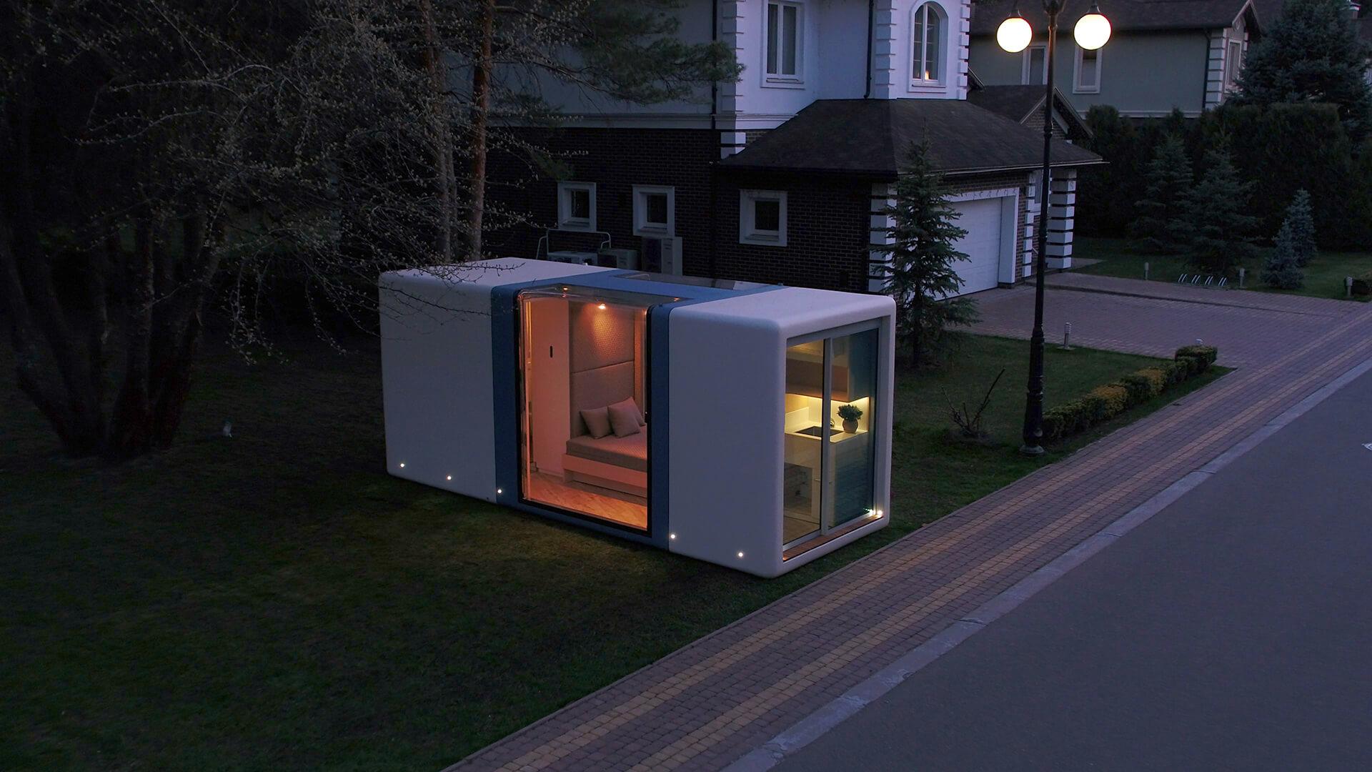 Può essere utilizzata come casa o spazio di lavoro