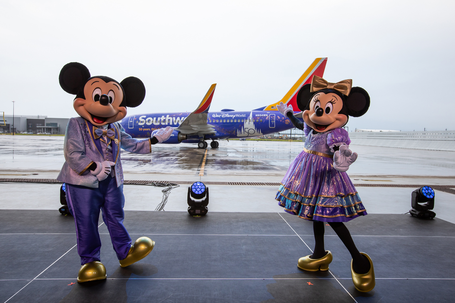 Il boeing personalizzato Disney di Southwest Airlines