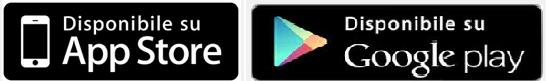 Logo di App Store e Google play