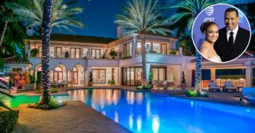Jennifer Lopez e Alex Rodriguez si aggiudicano una villa principesca a Miami con lo sconto