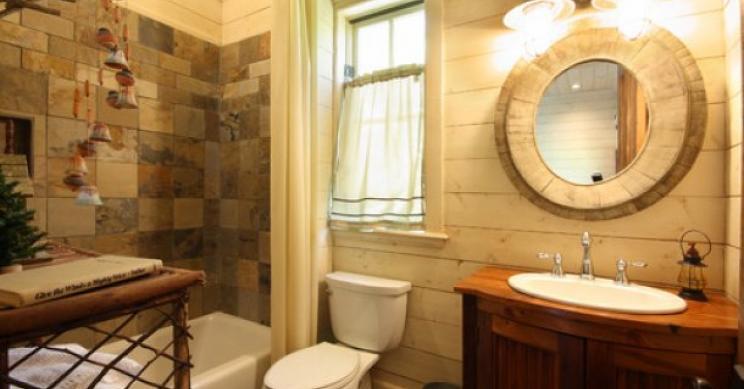 Stile rustico per il bagno