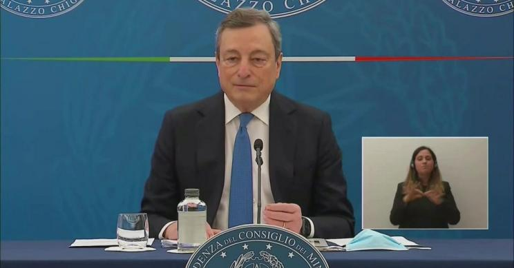 Conferenza stampa Draghi: dal 26 aprile le riaperture: cosa cambia