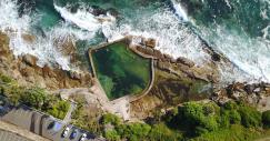 Le piscine australiane con vista panoramica sull'Oceano