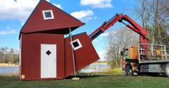 Una mini casa prefabbricata che si può montare ovunque in appena 3 ore