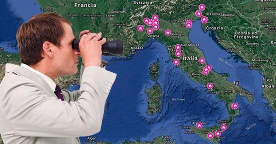 Le mappe degli immobili all'asta in Italia