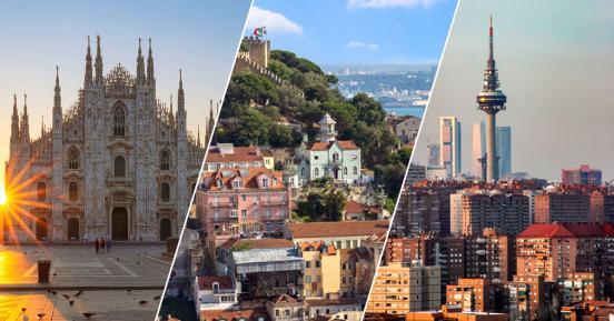 Le grandi città del Sud Europa che richiedono più sforzo per l'affitto. Milano al top