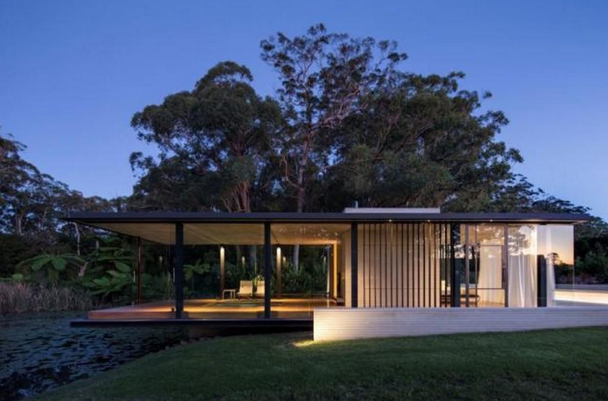 Lavorare In Australia Come Architetto in australia una casa minimalista in legno e vetro