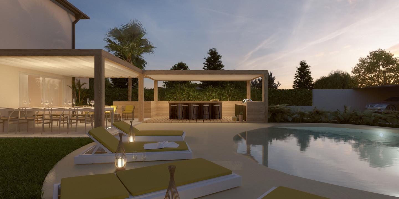 Progettare Un Giardino In Campagna come progettare un giardino con piscina, idee per la villa
