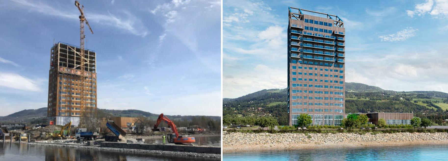 Il grattacielo in legno pi alto del mondo idealista news for Grattacielo piu alto del mondo