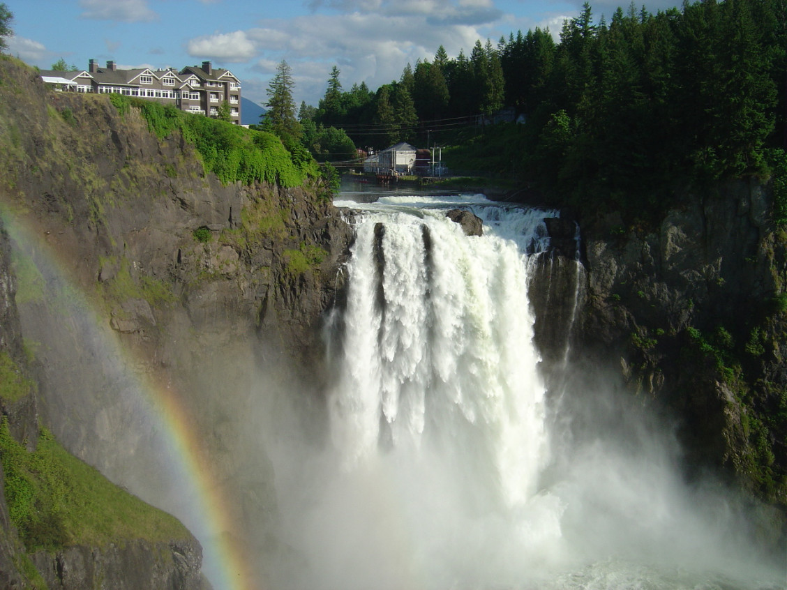 La cascata di Snoqualmie, a Washington (USA) / Wikimedia commons