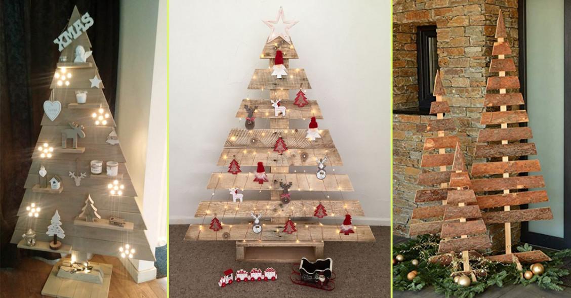 Alberi Di Natale Di Legno O Come Decorare La Casa In Modo