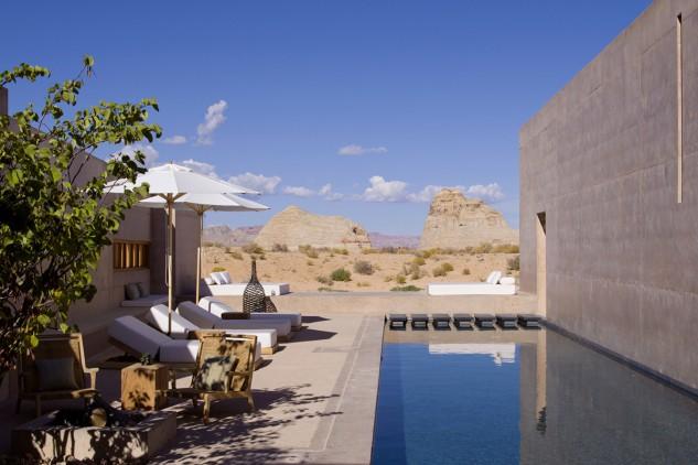 Il lussuoso resort è impreziosito da una spettacolare piscina / Amangiri Resort