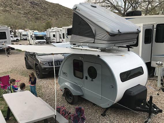 Facile da posizionare in un campeggio / Bean Trailer