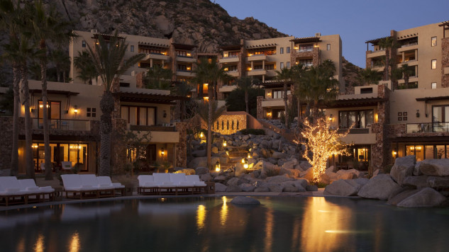Aspetto dell'hotel durante la notte