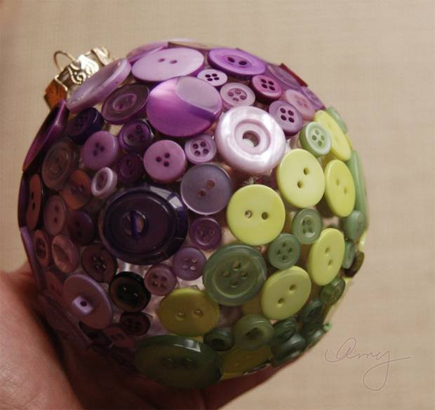 Una palla di Natale colorata