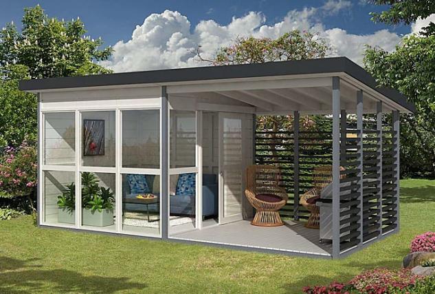Può essere una casa per gli ospiti, un ufficio o un locale commerciale / Amazon