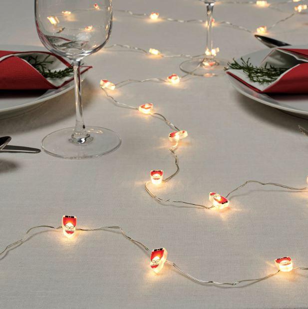 Luci al led per la tavola a Natale / Ikea