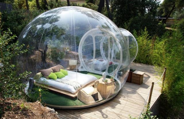 Dormire in una bolla trasparente immersi nella natura, ecco ...