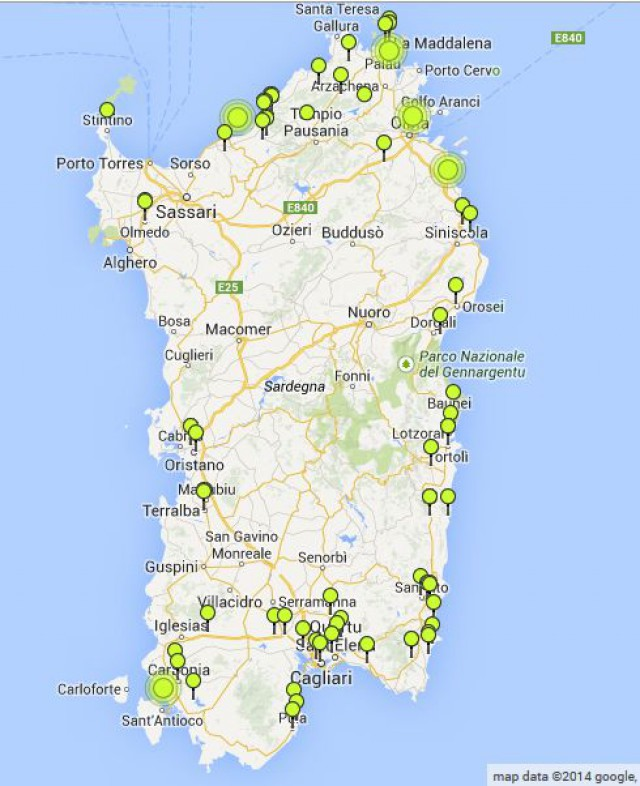 Sardegna Cartina Spiagge.Nuove Costruzioni In Sardegna La Mappa Delle Case Nuove Sarde Idealista News