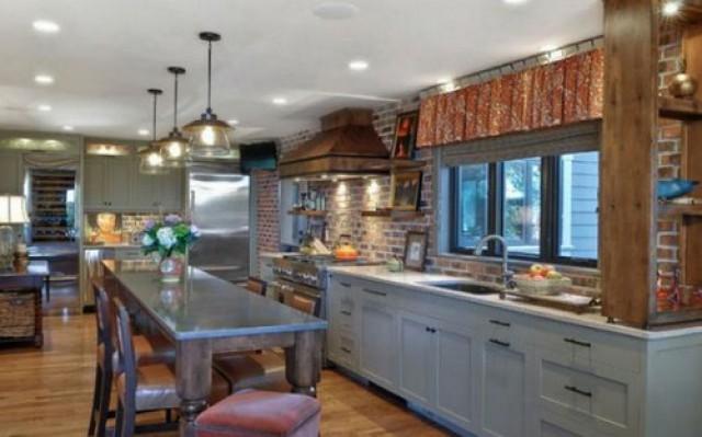 Come ottenere il massimo da una parete di mattoni in cucina (foto ...