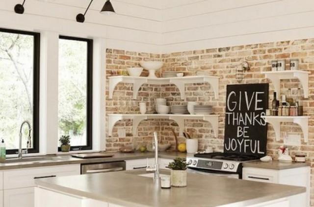 Parete Con Mattoni A Vista Finti : Una parete di mattoni a vista per dare un tocco rustico e