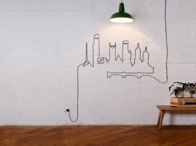 Illuminazione interni con cavetti illuminare un soffitto con