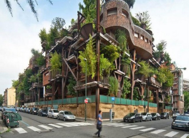 Casa albero in città