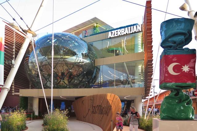 Il padiglione dell'Azerbaigian all'Expo