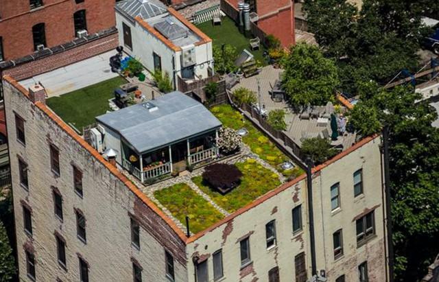 La casa sul tetto negli USA