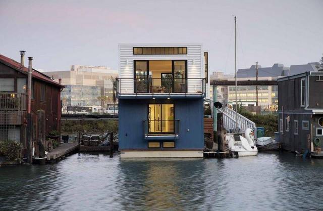 La casa galleggiante a San Francisco