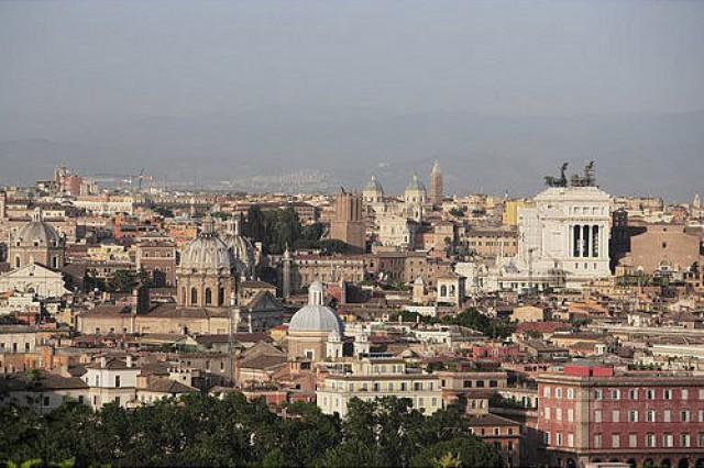 Panoramica della città di Roma