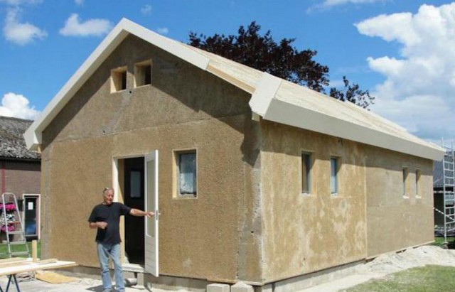 Casa costruita con canapa