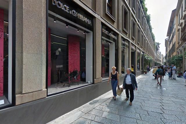Il negozio di Dolce e Gabbana in via della Spiga a Milano 13ea3ecd60564
