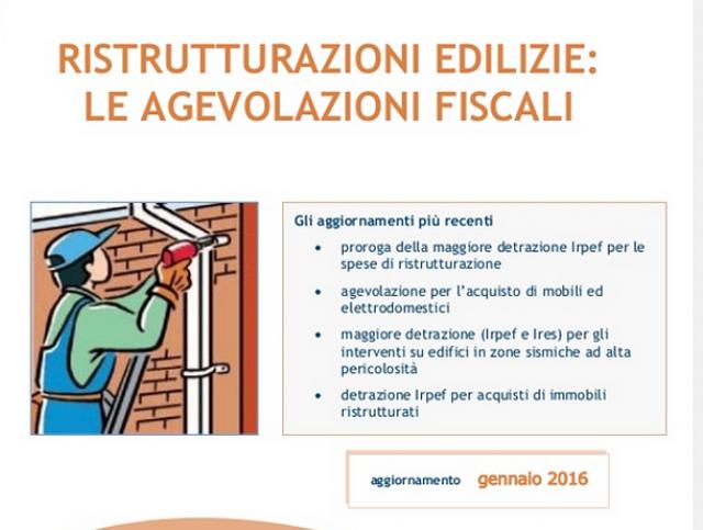 Exceptional Detrazioni Fiscali Ristrutturazioni 2016, La Guida Aggiornata Dellu0027Agenzia  Delle Entrate (scarica Pdf)
