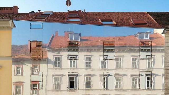L'edificio che si mimetizza con l'ambiente circostante