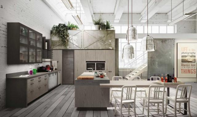 Arredamento Ufficio Stile Industriale : Qualche idea per un appartamento in stile industriale e