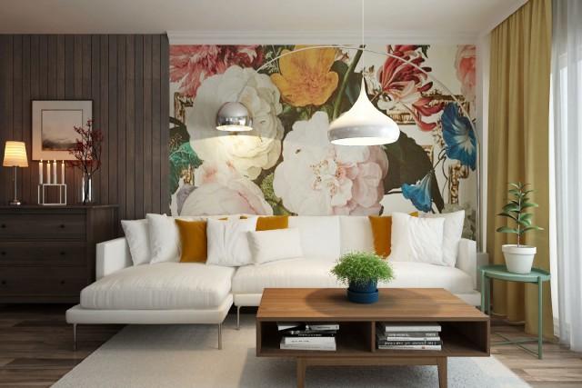 Arredare Soggiorno Con Carta Da Parati : Pittura o carta da parati la scelta migliore per il tuo soggiorno