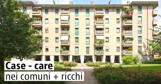 Case meno care nei comuni più ricchi